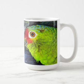 Red Lored Amazon Parrot Mug