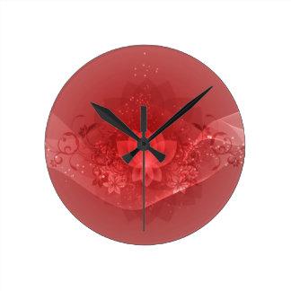 Red Lotus Flower Clocks