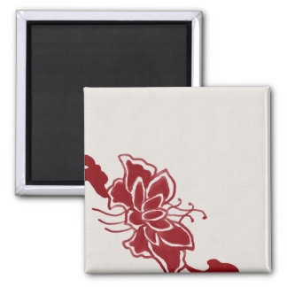 Red Lotus Flower Magnet