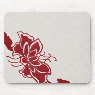 Red Lotus Flower Mousepad