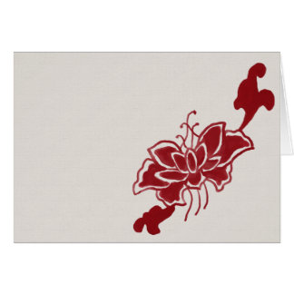 Red Lotus Flower Note Card