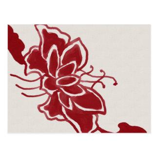 Red Lotus Flower Postcard