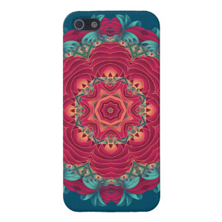 Red Lotus Mandala Cover For iPhone SE/5/5s