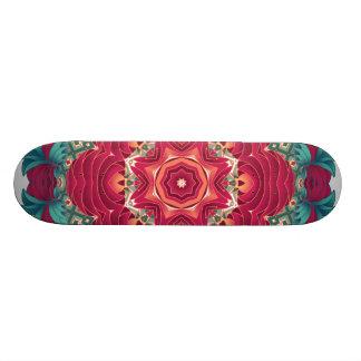 Red Lotus Mandala Skateboard Deck
