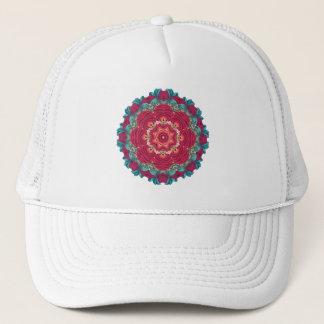 Red Lotus Mandala Trucker Hat