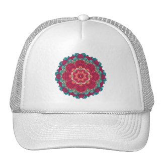 Red Lotus Mandala Trucker Hat