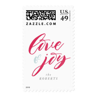Red Love and Loy Holiday Stamp