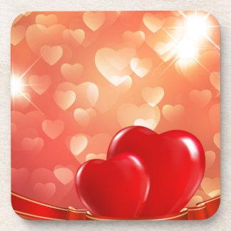 Red-Love-Background-Vector-Illustration Coaster