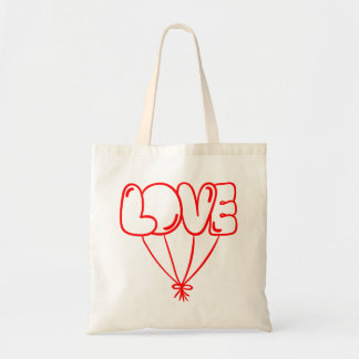 Red Love Balloons - Wedding, Bridal Shower Tote Bag