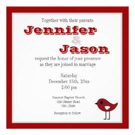 Christmas wedding invitations rustic country wedding invitations red love birds christmas wedding invitations filmwisefo