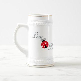 Red Love Bug - Ladybug 18 Oz Beer Stein