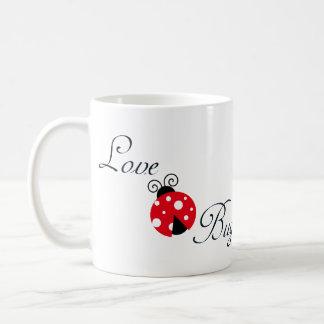 Red Love Bug - Ladybug Classic White Coffee Mug
