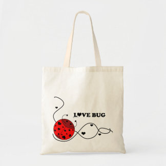 Red Love Bug Tote Bag