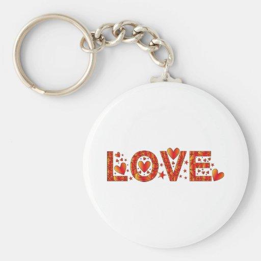 Red Love Design Keychains
