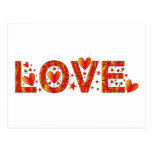 Red Love Design Post Cards