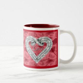 Red Love Diamond Heart Mug
