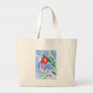 Red Love Flower aceo Bag
