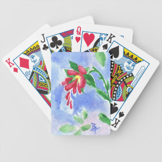 Red Love Flower aceo Bicycle Playing Cards