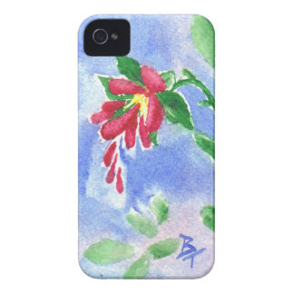 Red Love Flower aceo BlackBerry Bold Case