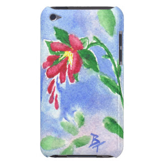 Red Love Flower aceo IPod Touch Case