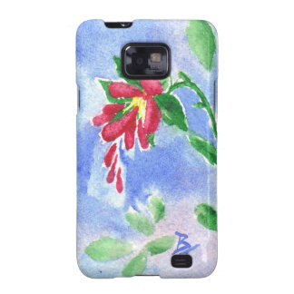 Red Love Flower aceo Samsung Galaxy Case Galaxy SII Cover