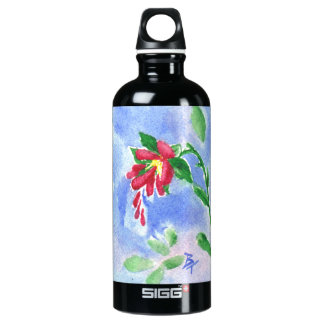 Red Love Flower aceo SIGG Traveler 0.6L Water Bottle