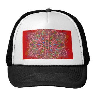 red love flower trucker hat