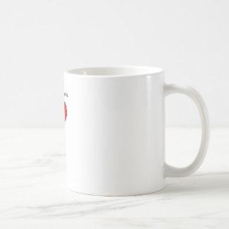 Red Love Heart Balloon You Make Me Smile Coffee Mug