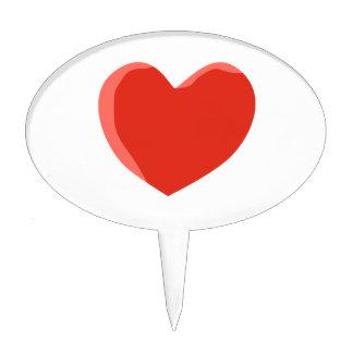 Red Love Heart Cake Pick