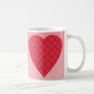 Red Love Heart Design Mug
