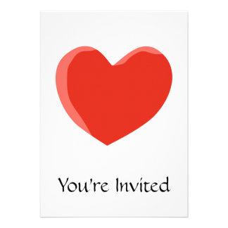 Red Love Heart Personalized Invite