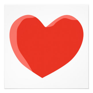 Red Love Heart Custom Invitation