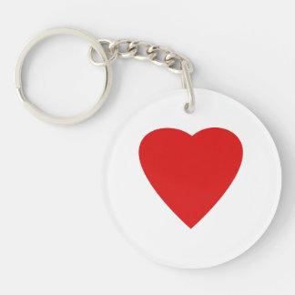 Red Love Heart. Keychain