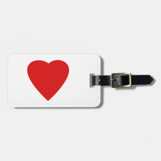 Red Love Heart. Luggage Tag