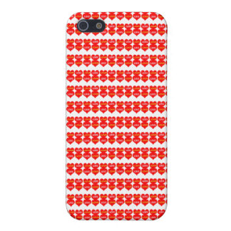 Red Love Heart Pattern IPhone 5 Mette Case
