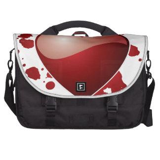 Red Love Heart Symbol Laptop Computer Bag