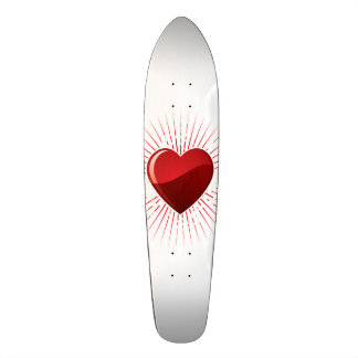 Red Love Heart Symbol Skateboard