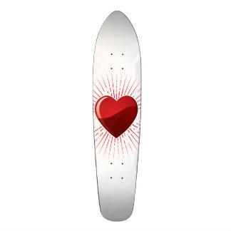 Red Love Heart Symbol Skateboard Decks