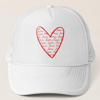 Red Love Heart Trucker Hat