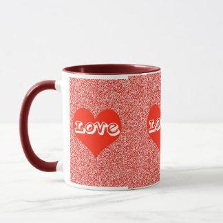 Red Love Heart Valentine Mug