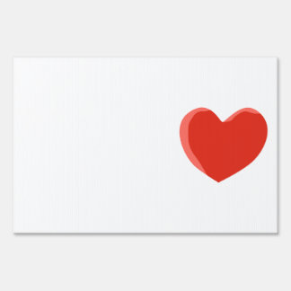 Red Love Heart. Yard Sign