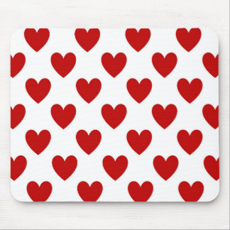 Red Love Hearts Computer Mousepad