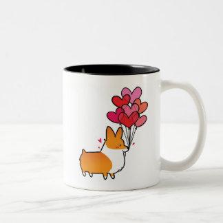 Red Love & Hearts Corgi Mug | CorgiThings