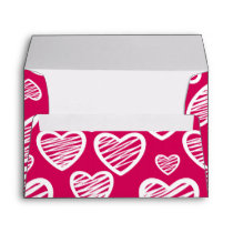 Red Love hearts Envelope