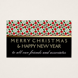 Red Love Hearts Holiday Mini Greeting Cards