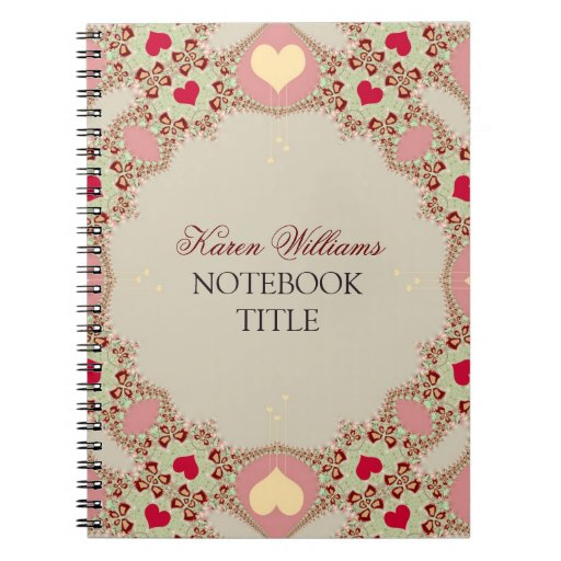 Red Love Hearts Pastel Lace Notebook
