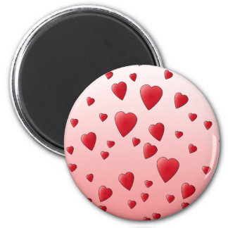 Red Love Hearts. Pattern. Magnet