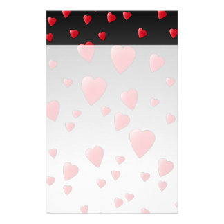 Red Love Hearts. Pattern. Stationery