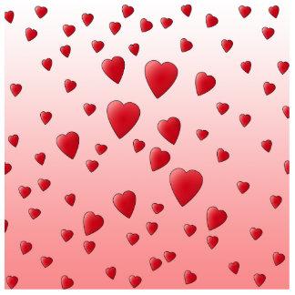 Red Love Hearts. Pattern. Statuette