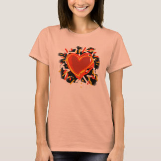 red love hearts T-Shirt